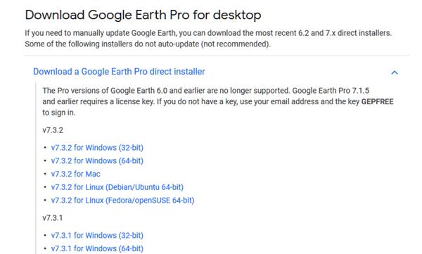 Google Earth Download for Windows 10 offline installer old version
