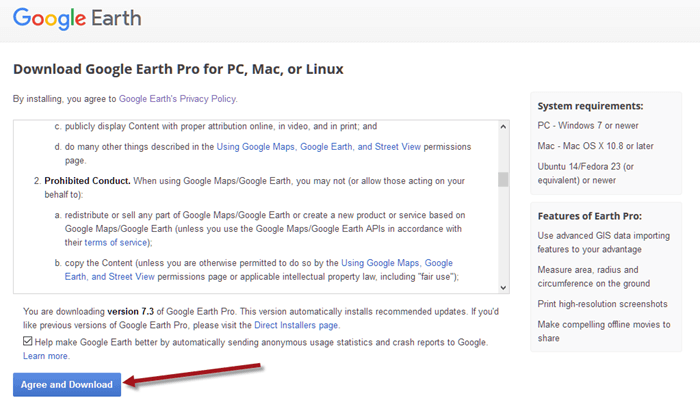 Google Earth Download for Windows 10