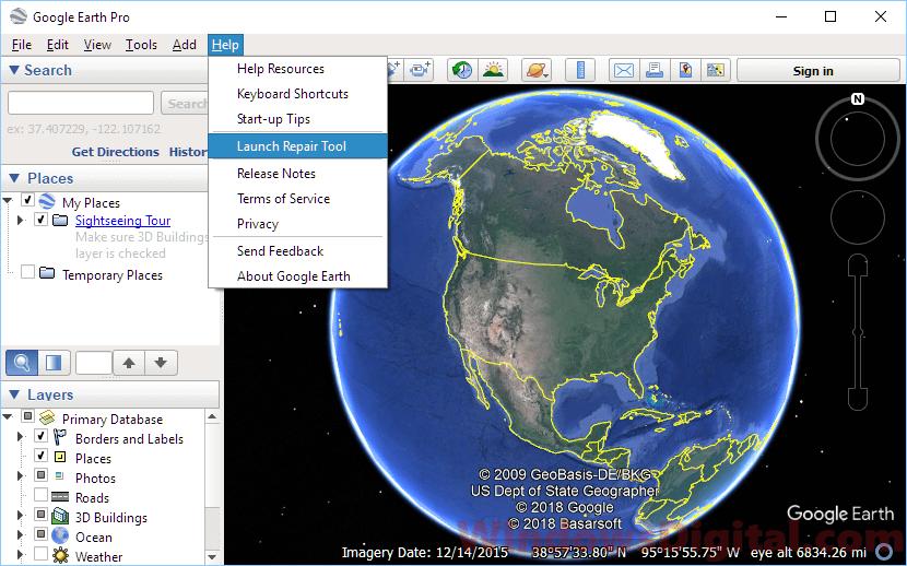 Google Earth Pro Not Working on Windows 10