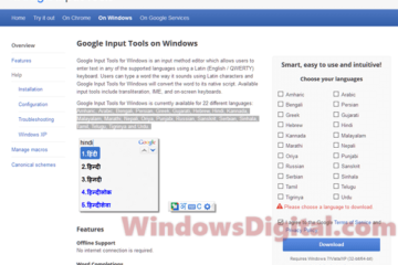 Google Input Tools for Windows 10 Download