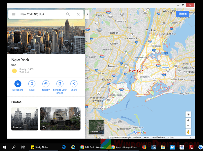Google Maps Download for Windows 10