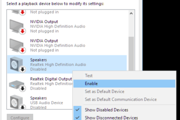 Headphones not working windows 10 after update