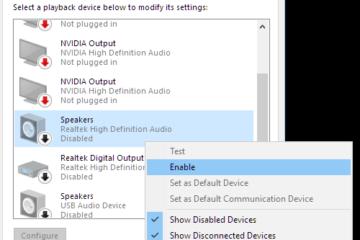 Headphones not working windows 10 after update