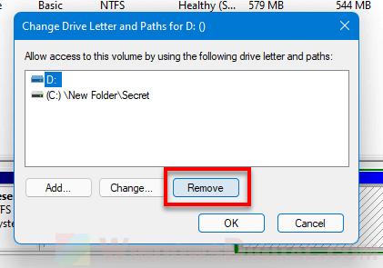 Hide drive Windows 11