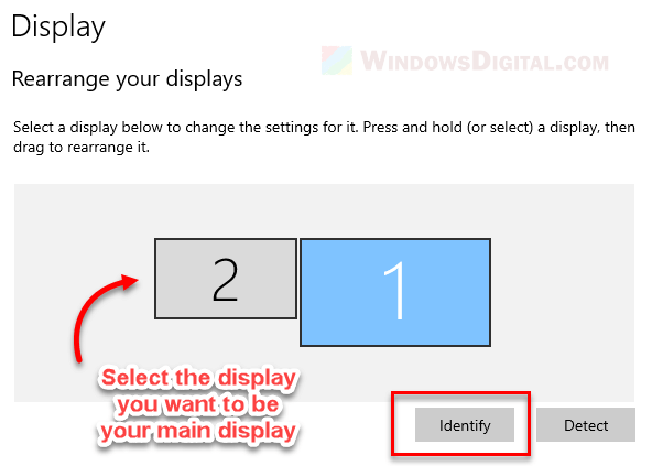 How to Change Main Display on Windows 10