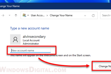 How to Change User Account Name in Windows 11
