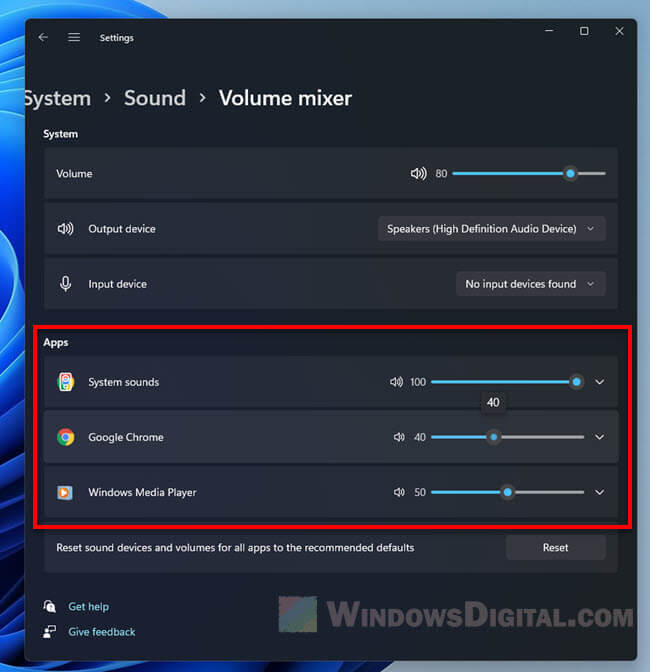 How to Change Volume of Different Apps on Windows 11