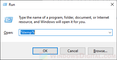 How to Clear Cache Temp Files on Windows 10