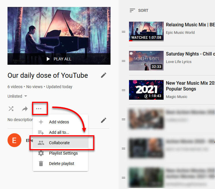 How to Collaborate a Playlist on YouTube