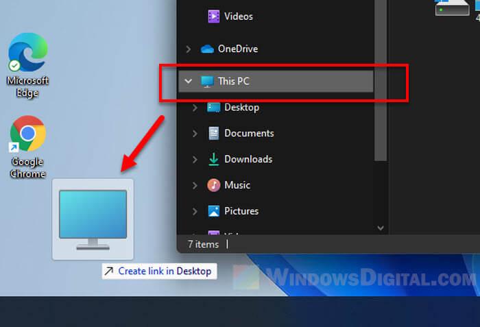 How to Create This PC Shortcut Desktop Windows 11