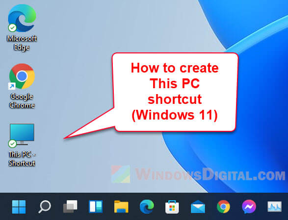 How to Create This PC Shortcut on Desktop in Windows 11