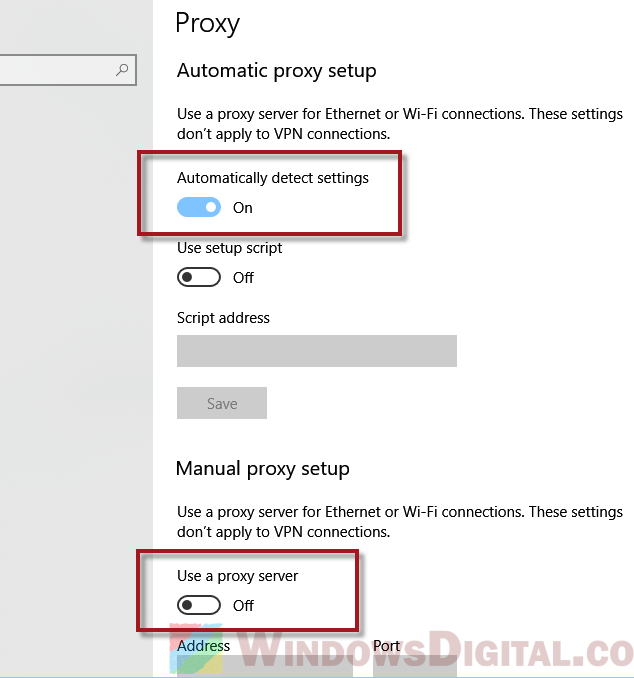 How to Disable Proxy Settings in Windows 10 Permanently