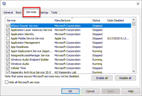 How to Disable Services on Startup Windows 10