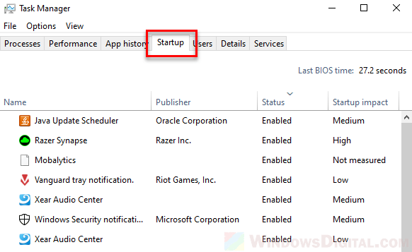 How to Disable Startup Software Windows 10