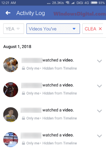 How to Find Recently Watched Videos on Facebook App