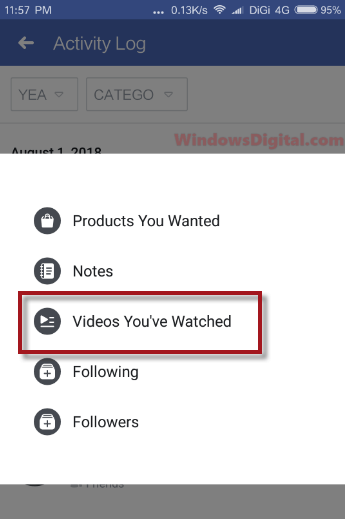 How to Find Recently Watched Videos on Facebook Mobile