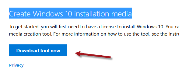 Windows 10 Free Upgrade Download Tool