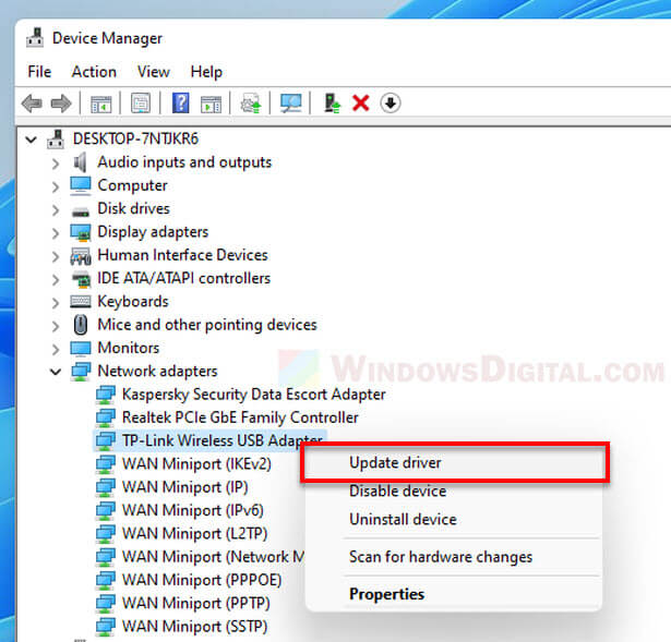 How to Install or Update Driver in Windows 11