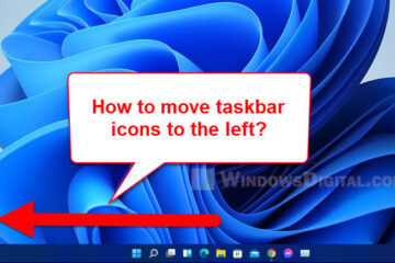 How to Move Start Menu and Taskbar Icons To The Left in Windows 11