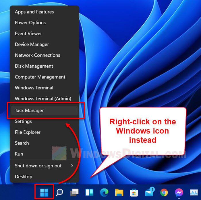 How to Open Task Manager From Taskbar in Windows 11
