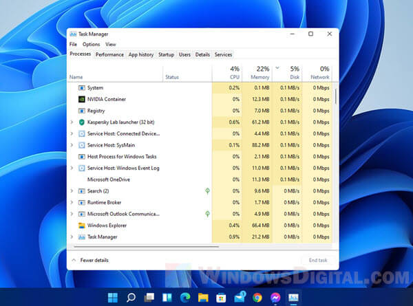 How to Open Task Manager in Windows 11