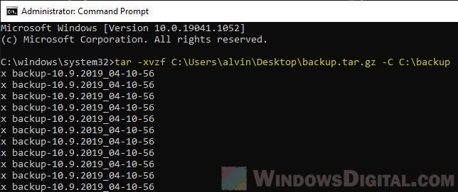 How to Open or Extract .Gz Tar.gz .Tar File in Windows 10