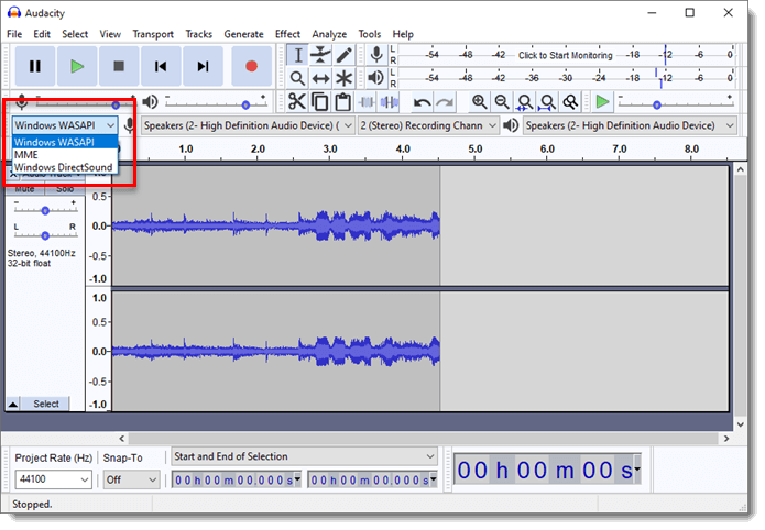 How to Record Internal Audio on Windows 10 WASAPI