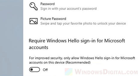 How to Remove PIN and password Windows 10