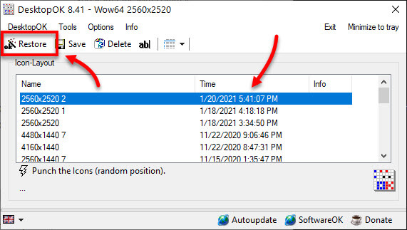 How to Restore Positions of Desktop Icons in Windows 10