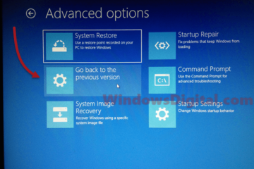 How to Roll Back Windows 10 update in safe mode