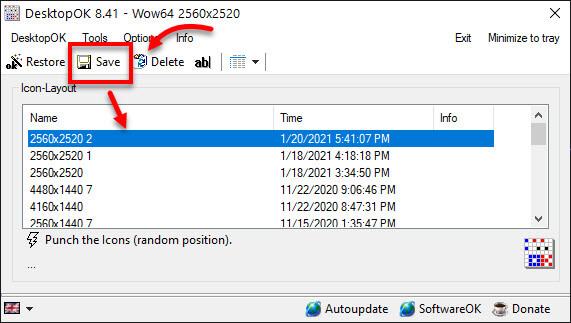 How to Save Positions of Desktop Icons in Windows 10