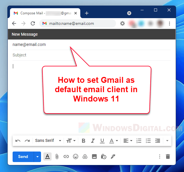 How to Set Gmail as Default Email Client in Windows 11