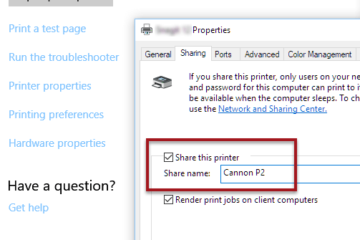 How to Share Printers Without HomeGroup in Windows 10