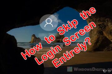 How to Skip Microsoft Sign In Windows 10 Login screen