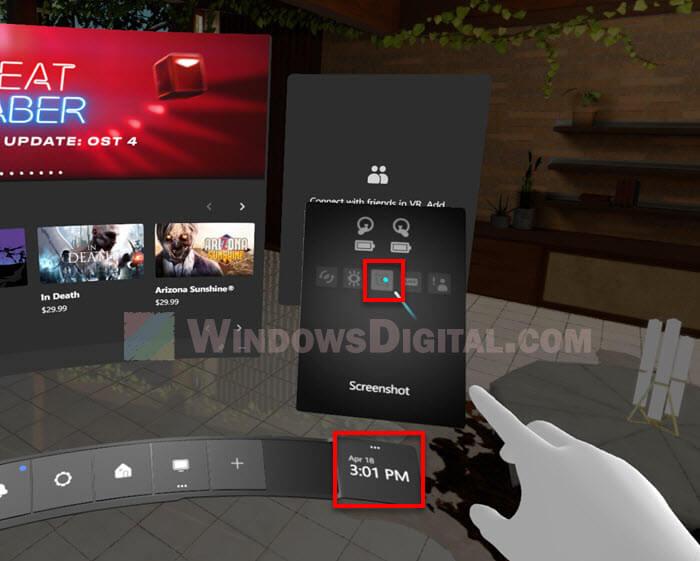 How to Take Screenshot on Oculus Rift S