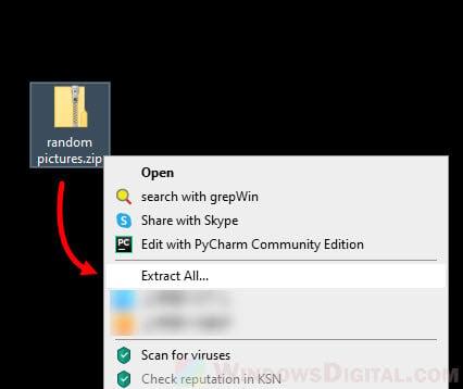 How to Unzip File Folder Windows 10
