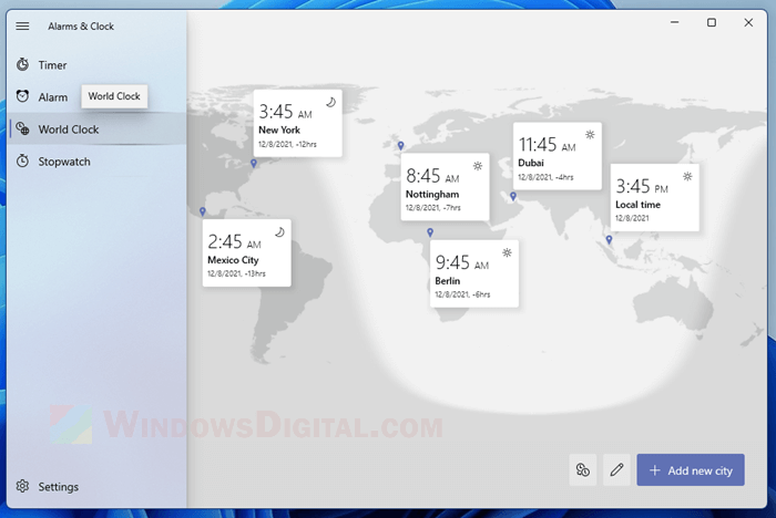 How to add more than 2 additional clocks in Windows 11