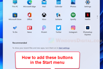 How to add settings file explorer folders to Start menu next to Power button Windows 11