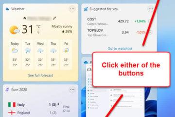 How to add widgets in Windows 11