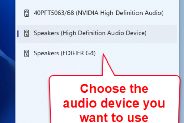 How to change sound output device on Windows 11
