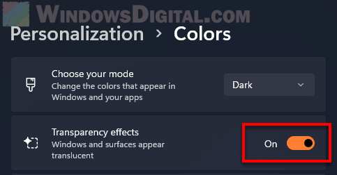 How to change taskbar color to transparent effects Windows 11