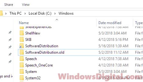 How to change windows 10 update download location folder