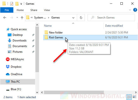 How to check folder size in Windows 10 tooltip