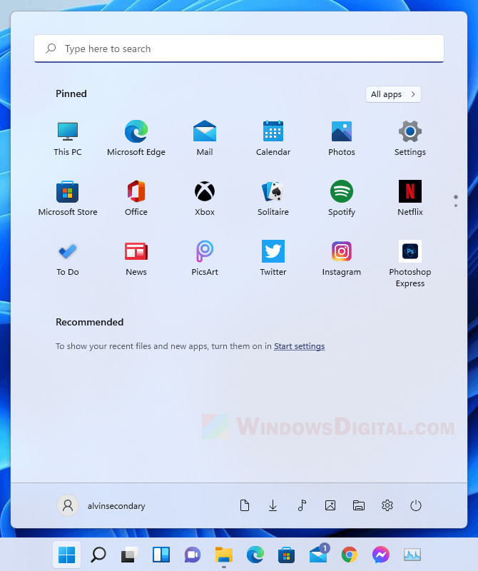 How to clear Recommended list in Start menu Windows 11