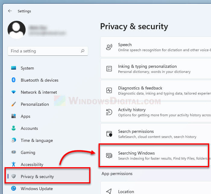 How to configure Windows 11 search indexing