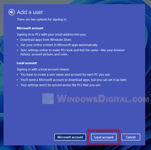 How to create a local account on Windows 11