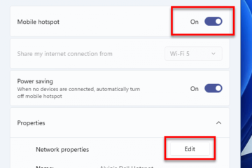 How to create hotspot in Windows 11