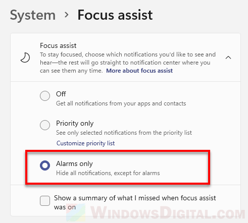 How to disable all notifications on Windows 11