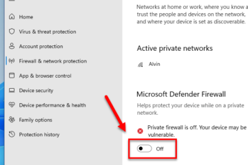 How to disable firewall in Windows 11