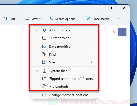 How to do an advanced search in File Explorer Windows 11